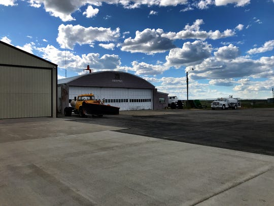 The Choteau Airport is next to the golf course on the hill above town.