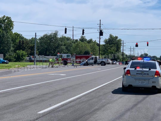 Wreck closes U.S. 60 near Borax Drive on Tuesday afternoon.
