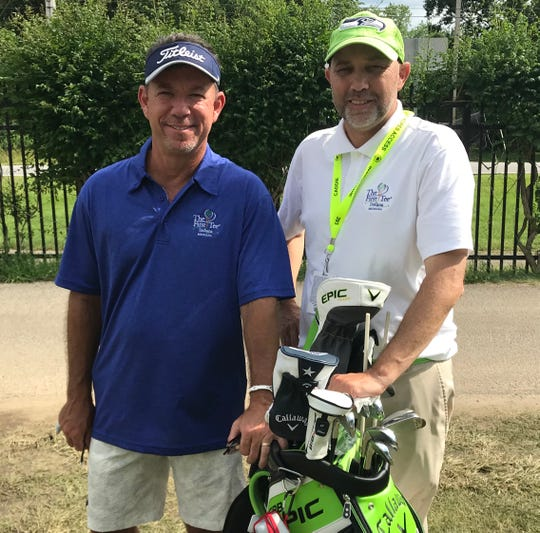 (l-r) Boyhood friends Tony Soerries, Andy Kern will team up again this week at the U.S. Senior Open at Notre Dame's Warren Golf Course