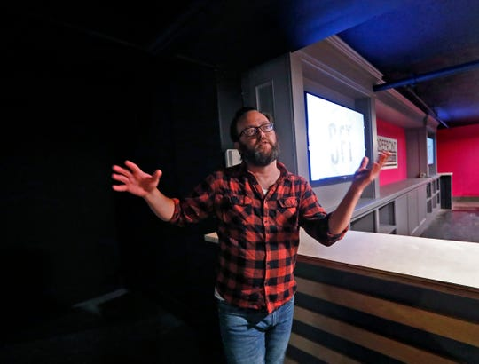 Ronan Marra, artistic director and founder of the Storefront Theatre of Indianapolis, shows the new space in Broad Ripple on Monday, June 24, 2019.