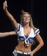 Breanna Fonner auditioning to be a Colts cheerleader in 2010.