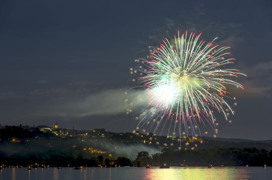 File The Ithaca Community Fireworks will be held Sunday, the eve of Independence Day. FILE PHOTO The Ithaca Community Fireworks were held near Ithaca?s Stewart Park in July 2012. For the first time, the Ithaca Community Fireworks were held near Ithaca's Stewart Park in July 2012. FIle Photo For the first time, the Ithaca Community Fireworks were held near Ithaca's Stewart Park on July 2. DAVE BURBANK / CONTRIBUTED PHOTO For the first time the Ithaca Community Fireworks were held near Ithaca's Stewart Park on July 2 2012.
