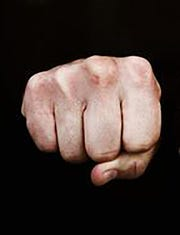 A fist is shown in this file photo.