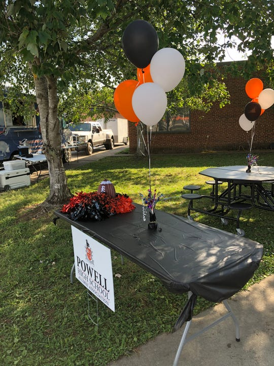 Decorations were in place for the Alumni Club tailgate, a new feature at the end of last year's homecoming parade.
