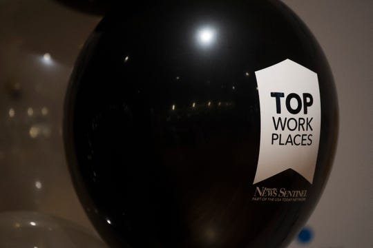 A balloon flies at the 2019 Knox.Biz Top Workplaces event at The Foundry in Knoxville, Tuesday June 25, 2019.