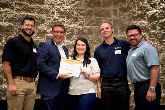 Axle Logistics wins the New Ideas category at the 2019 Knox.Biz Top Workplaces event at The Foundry in Knoxville, Tennessee on Tuesday, June 25, 2019.