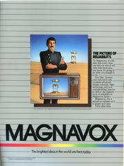 This Magnavox ad, featuring Leonard Nemoy was on the inside cover of the 1982 World's Fair Guide Book.