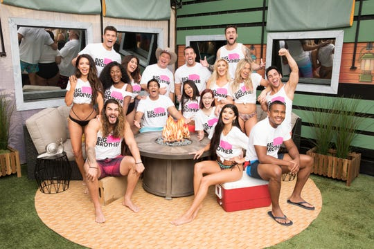 """Big Brother 21"" houseguests pose for a photo. Bottom row from left are Jack Matthews, Analyse Talvera and David Alexander. Middle row from left are  Holly Alexander, Kemi Fakunle, Jessica Milagros, Ovi Kabir, Isabella Wang, Nicole Anthony and Tommy Bracco. Top row from left are  Jackson Michie, Cliff Hogg, Sam Smith, Kathryn Dunn, Christie Murphy and Nick Maccarone."
