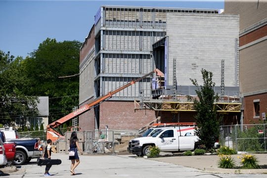 Construction continues at West Lafayette High School, Tuesday, June 25, 2019 in West Lafayette.