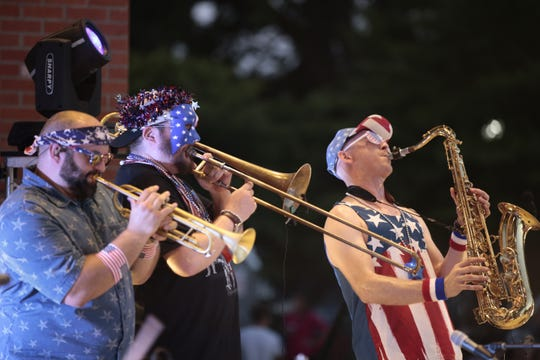 Uncle Sam's Jam is a downtown Independence Day party featuring live music and a firework show