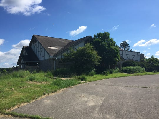 The old Marion Oaks Golf Course clubhouse sits in a state of disrepair, Tuesday, June 25, 2019, on land to be developed into a new subdivision Marion Oaks in Marion Township.