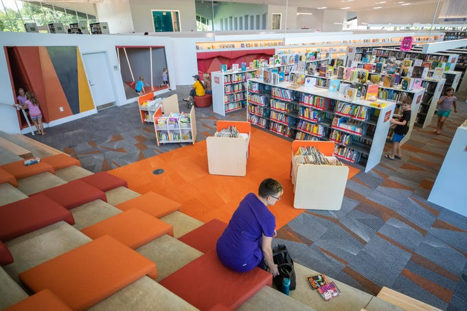 An overview of the children's area at the new Northeast Regional Louisville Free Public Library. June 25, 2019