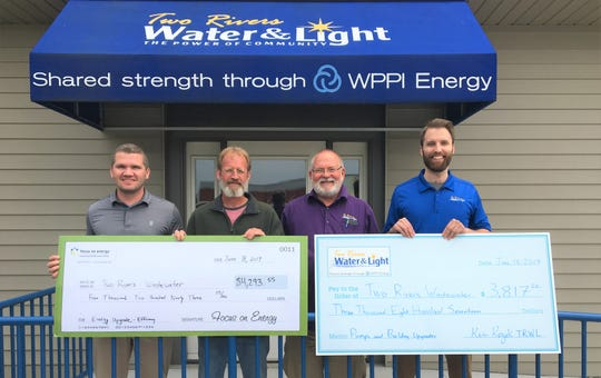 Two Rivers Water & Light and Focus on Energy, Wisconsin's statewide program for energy efficiency and renewable energy, presented the Two Rivers Wastewater Facility with an incentive check in the amount of $4,293.55 for recent energy efficiency upgrades.