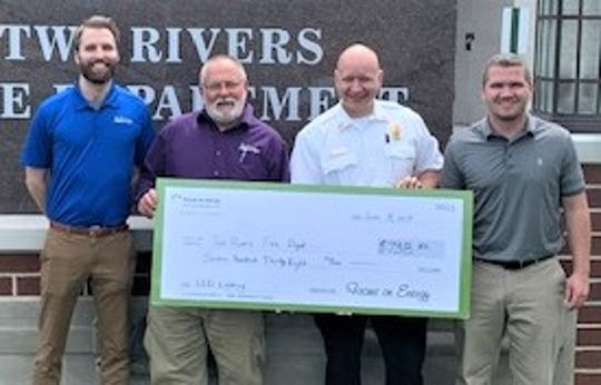 Two Rivers Fire Department received $738 from Focus on Energy for its lighting upgrades completed this spring.