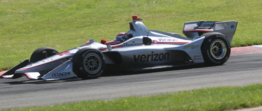 Team Penske's Will Power tests at Mid-Ohio Sports Car Course in late June to prepare for the Honda Indy 200 at Mid-Ohio this weekend.