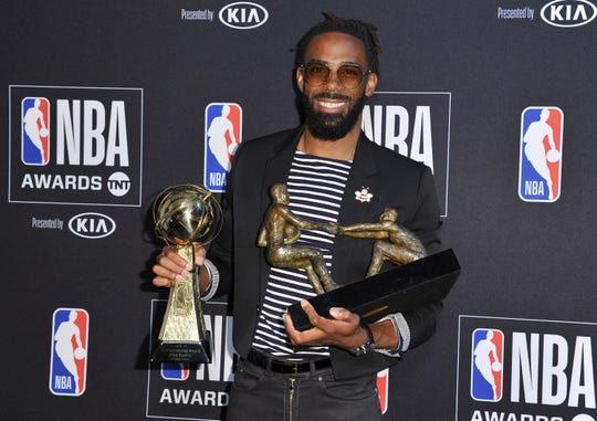 NBA players voted Mike Conley the 2018-19 Twyman Stokes Teammate of the Year, and he also won the 2018-19 NBA Sportsmanship Award.
