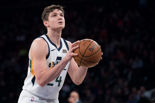 Jazz guard Grayson Allen shot 32.3% on 3-pointers in 38 appearances with the Jazz.