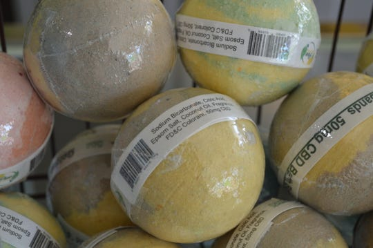 CBD bath bombs are $9.99 at Pure Golden Botanicals.