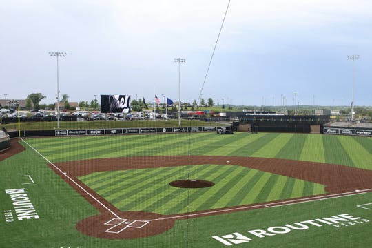 Routine Field in Franklin awaits the first game as host to the Milwaukee Milkmen on June 24, 2019.