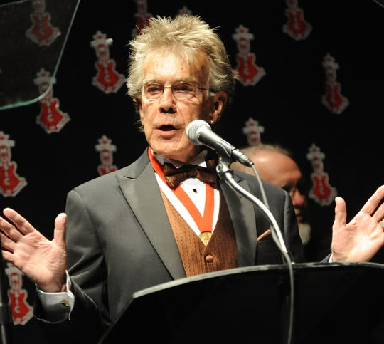 Jerry Carrigan speaks at the Alabama Music Hall of Fame's 13th Induction Banquet and Awards Show at the Renaissance Hotel in 2010.