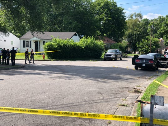 Metro Nashville Police Department officers respond to a fatal shooting in North Nashville on Tuesday, June 25, 2019.