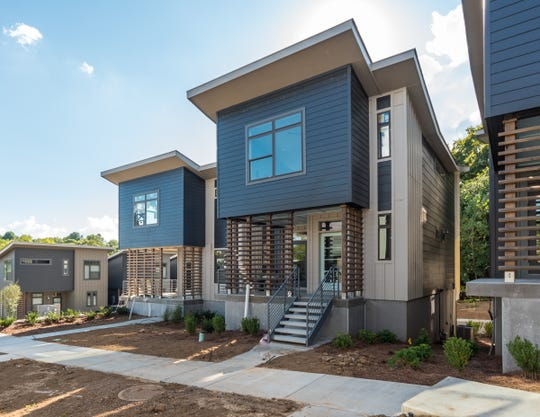 Joule is a 30-cottage neighborhood located off Rosebank Avenue near Shelby Park and the Shelby Bottoms Greenway.