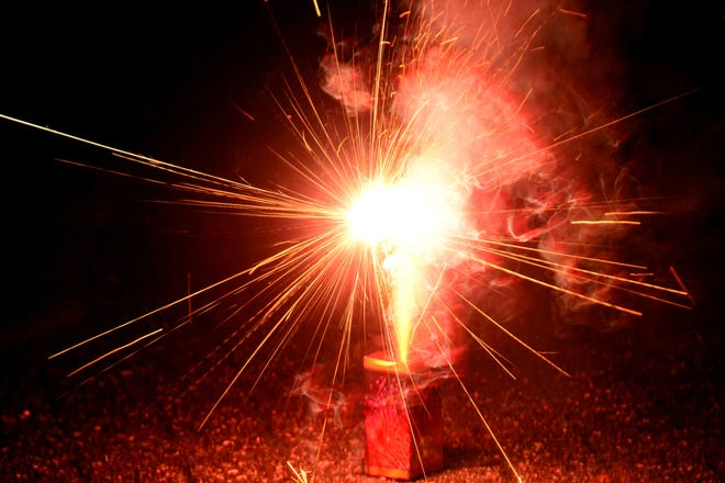 Use fireworks on a hard, flat and level surface to insure the stability of the items, especially items that produce a thrust upon ignition.