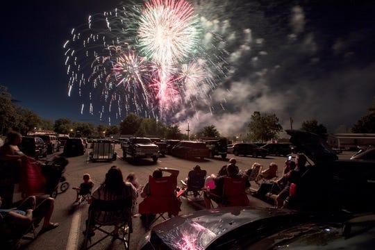 Fireworks at Memorial Park in Fair Lawn on Thursday, June 28, 2018.