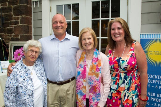 Sister Barbara Moran, Michael Maron, Sister Antoinette Moore, Holly Schepisi. Holy Name Medical Center held its 25th annual golf classic at Hackensack Golf Club in Emerson. 06/24/2019