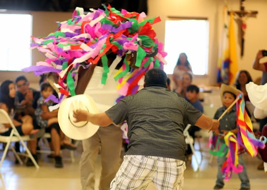 The Michoacan dance troupe kept the audience entertained on Sunday with a series of comical dances during the 70th annual Fiesta de Santa Ana Catholic Church in Deming, NM.