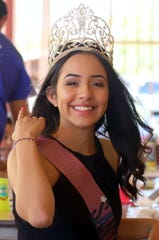 Rita Leon, 16, is the reigning 2019 Queen of the Fiesta de Santa Ana Catholic Church in Deming, NM..