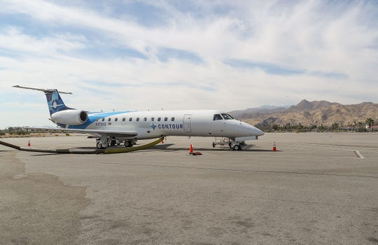 Contour Airlines will operate a direct flight from Palm Springs to Sacramento aboard their Embraer ERJ-135 regional jets. (June 25, 2019)