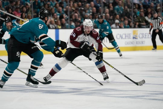 Carl Soderberg, 33, had 49 points (23 goals, 26 assists) for the Colorado Avalanche last season.