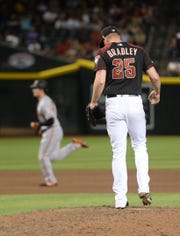 It's unclear how close the Diamondbacks are to losing patience with struggling relievers Archie Bradley and Zack Godley.