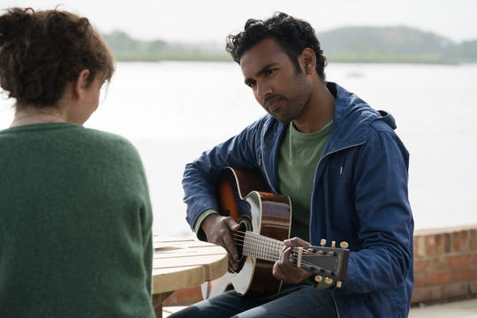 "Jack (Himesh Patel) plays one of his ""original"" songs in ""Yesterday."""