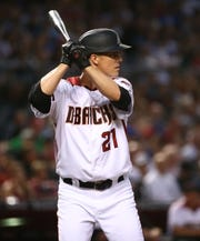 Arizona Diamondbacks Zack Greinke bats against the Los Angeles Dodgers in the fourth inning on June 24, 2019 at Chase Field in Phoenix, Ariz.