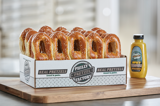 A box of pretzels from Philly Pretzel Factory. The new pretzel shop in Goodyear offers catering options.