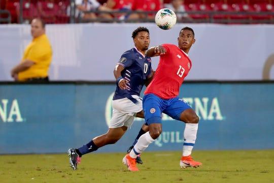 Costa Rica durante su enfrentamiento contra Bermuda.