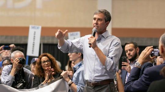 Beto O'Rourke, aspirante a la candidatura presidencial por el partido demócrata.