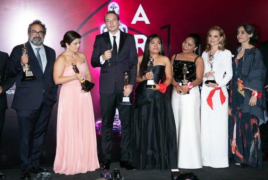 'Roma' arrasó con 10 premios en  la Entrega 61 de los Premios Ariel el lunes 24 de julio de 2019 en la Cineteca Nacional de la Ciudad de México.