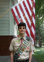 Martin Silvio Noe of East Fishkill, a member of Boy Scout Troop 86, recently earned his Eagle Scout Award for a project he did at Hopewell Recreation Park.