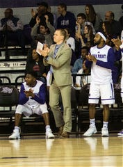 Nate Bollinger was named the director of basketball operations at William & Mary. He is shown here during his time coaching at High Point University.