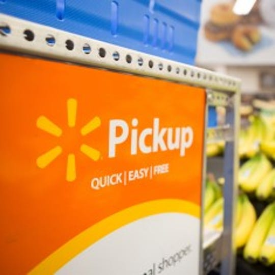 Walmart offers grocery pickup at some stores in the area.