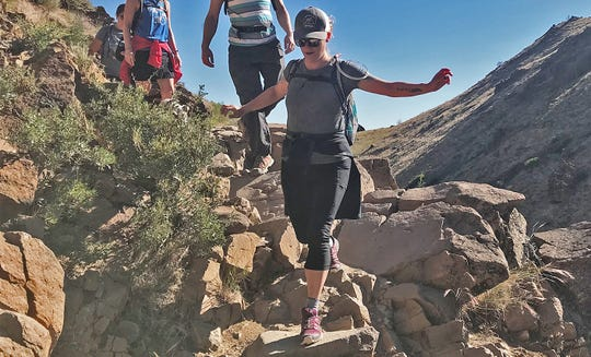 #HikingMyFeelings founder Sydney Williams on the Hunter Creek Trail in Reno on June 22, 2019.