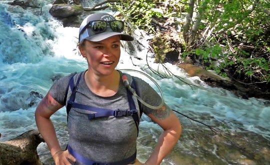 #HikingMyFeelings founder Sydney Williams near the Hunter Creek Falls in Reno on June 22, 2019.