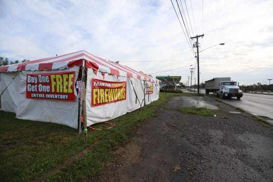 Tents selling fireworks have popped up in the last several weeks.  One was seen in the Marketplace Mall parking lot and another is on W. Henrietta Rd. across from Kohl's.