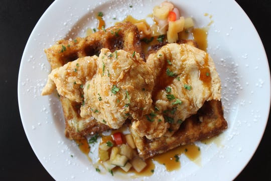 Chicken and Waffles at Abby Singer's Bistro.