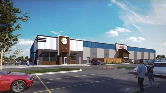 A rendering of the new indoor facility being planned for Thunder Road of Sioux Falls.