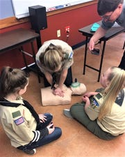 Members of Nixa 200 Ladies Troop have engaged in their initial outdoor adventure skills including water safety, swimming, camping, hiking, first aid and CPR certification, fire safety and more.