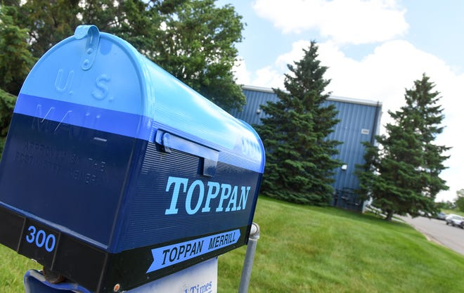 The Toppan Merrill facility is pictured Tuesday, June 25, 2019, in Sartell.